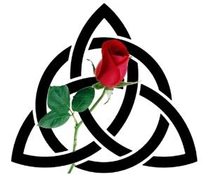 Celtic knot-rose logo large